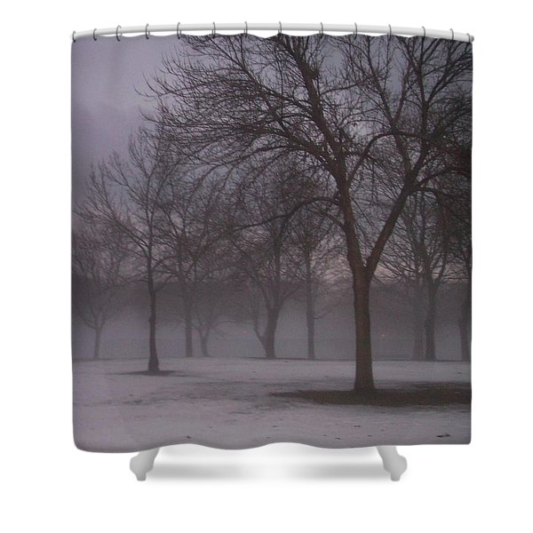 Shower Curtain featuring the photograph January Fog 4 by Anita Burgermeister