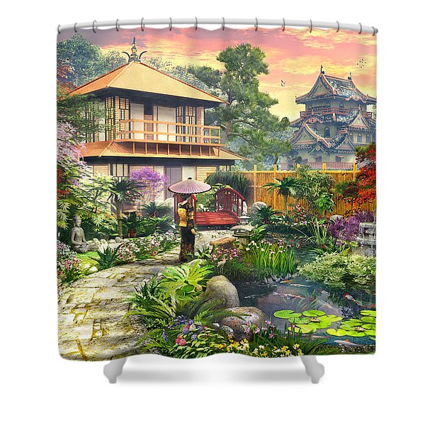 Japan Garden Variant 2 Shower Curtain