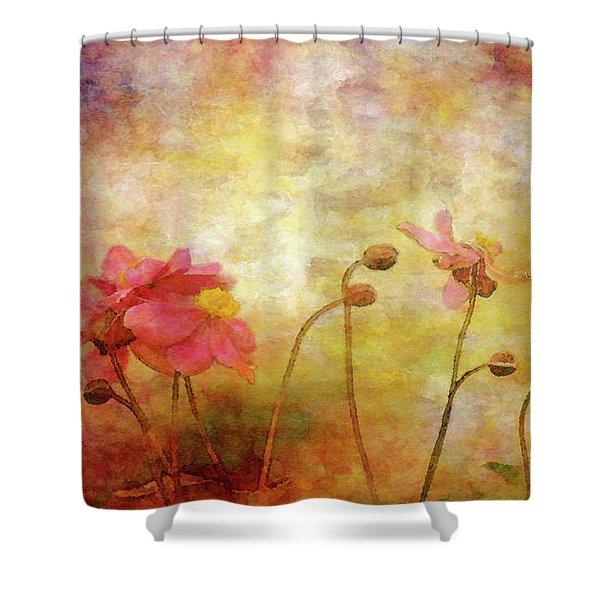 Japanese Anemone Landscape 3959 Idp_2 Shower Curtain