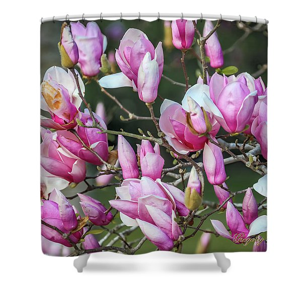 Japanese Blooms Shower Curtain