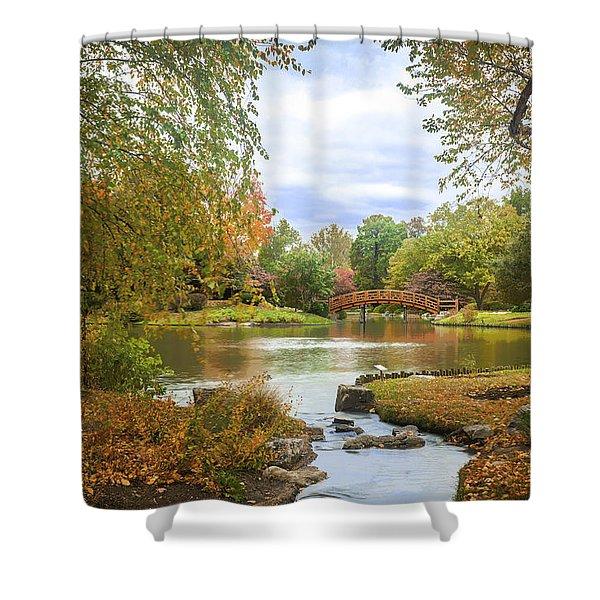 Japanese Garden View Shower Curtain