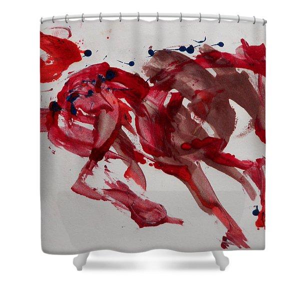 Japanese Horse Shower Curtain