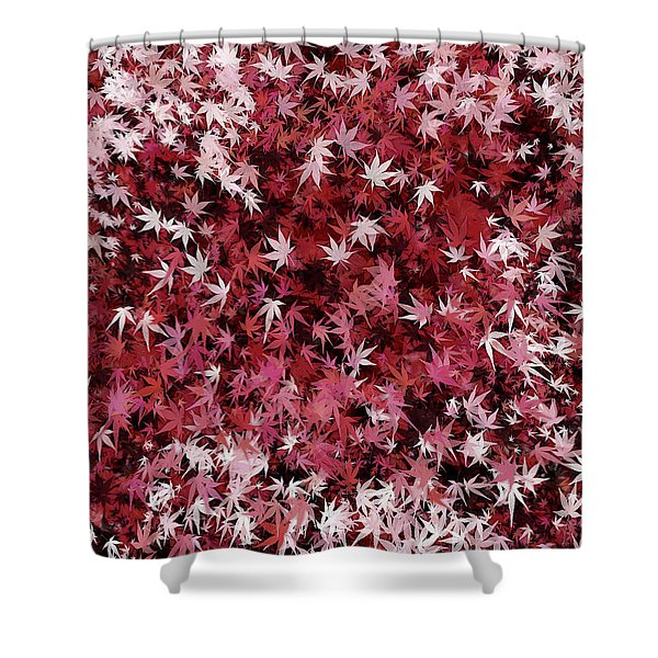 Japanese Maple Leaves Shower Curtain