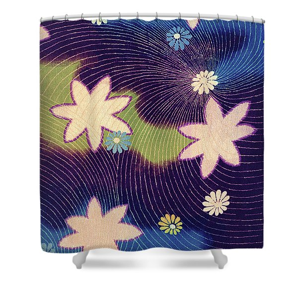 Japanese Maple Modern Interior Art Painting. Shower Curtain