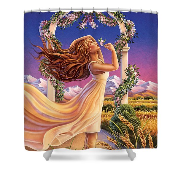 Jasmine - Sensual Pleasure Shower Curtain
