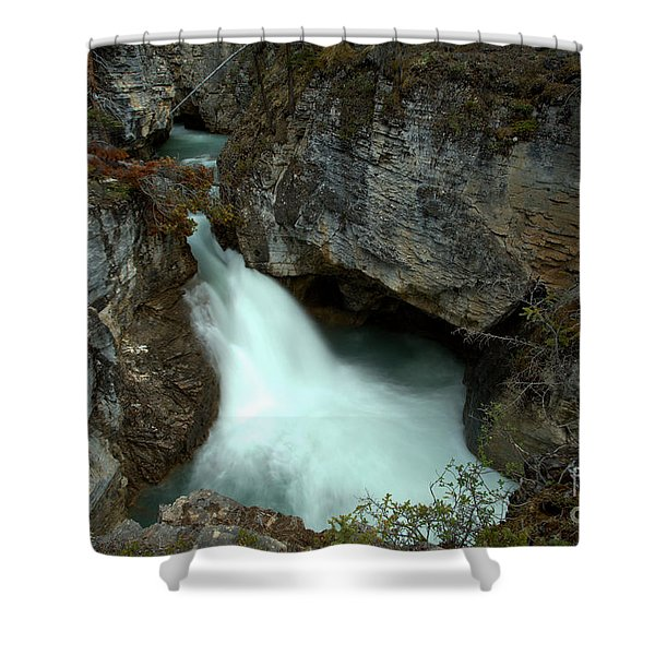 Jasper Beauty Creek Waterfall Canyon Shower Curtain