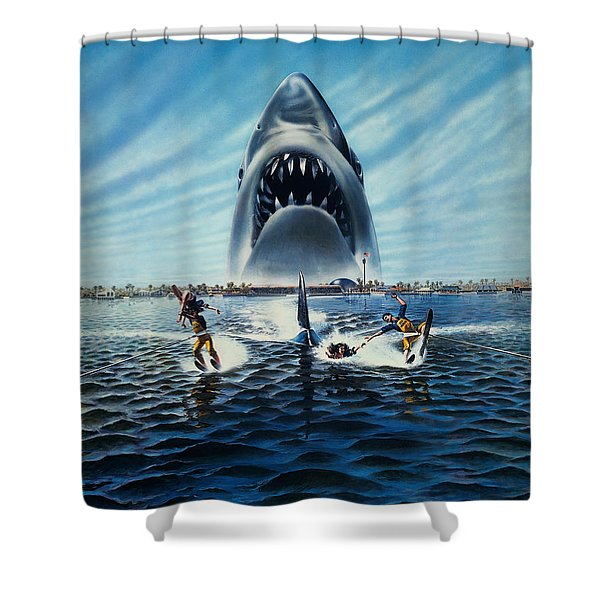 Jaws 3 1983 Shower Curtain