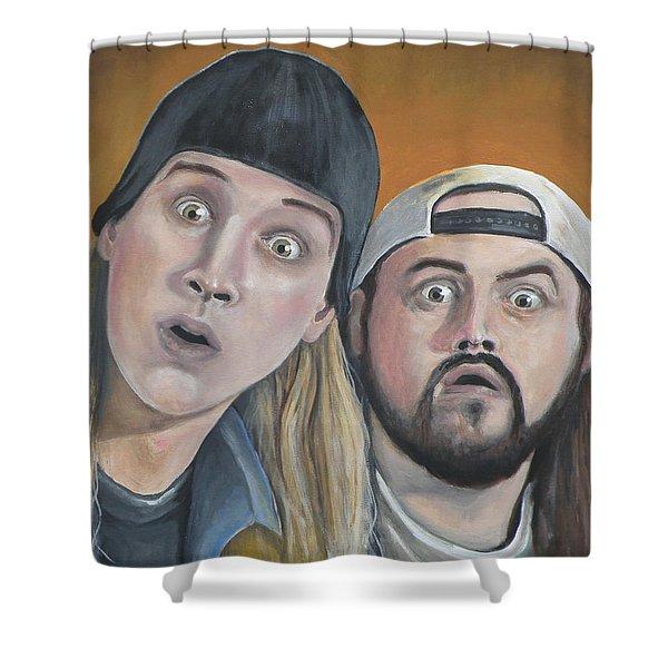 Jay And Silent Bob Shower Curtain