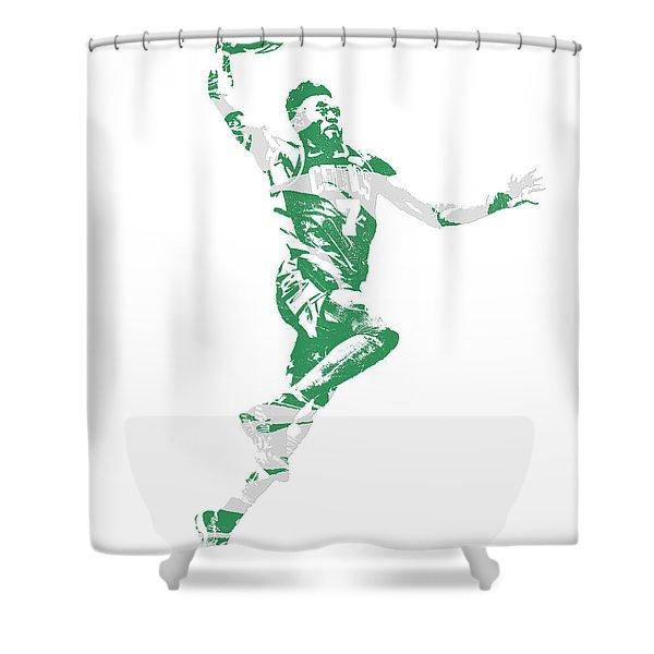 Jaylen Brown Boston Celtics Pixel Art 10 Shower Curtain