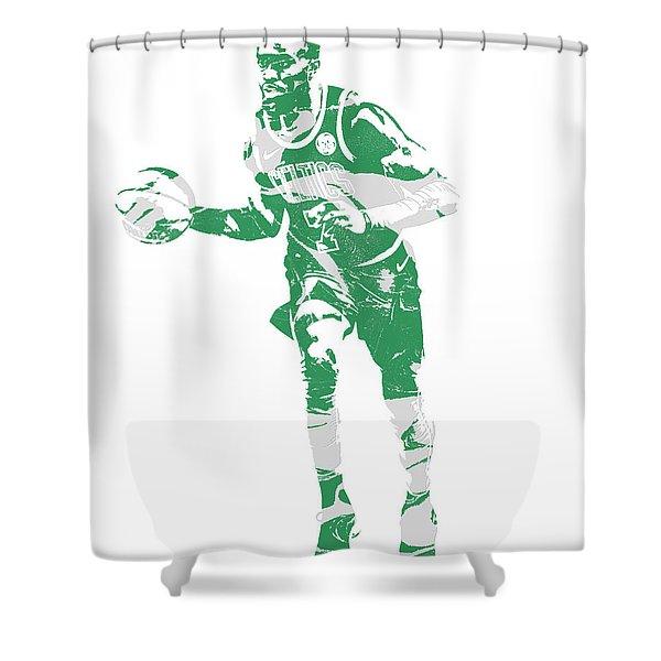 Jaylen Brown Boston Celtics Pixel Art 30 Shower Curtain