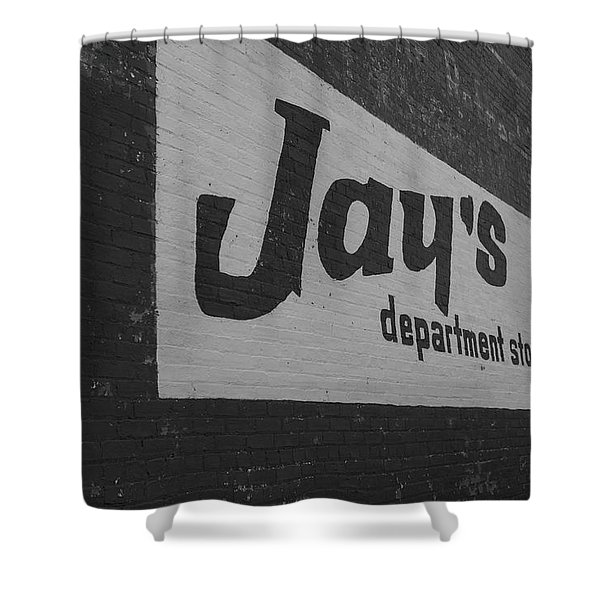 Jay's Department Store In Bw Shower Curtain
