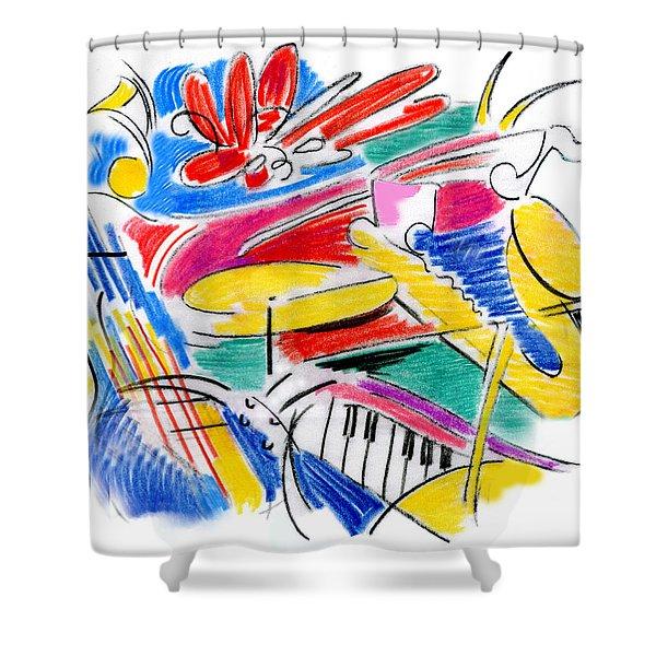 Jazz Art Shower Curtain