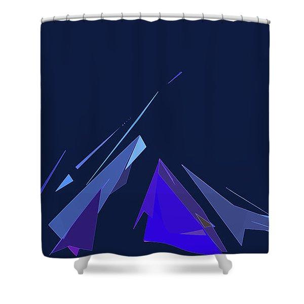 Jazz Campfire Shower Curtain