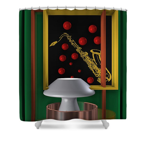 Jazz Club Shower Curtain