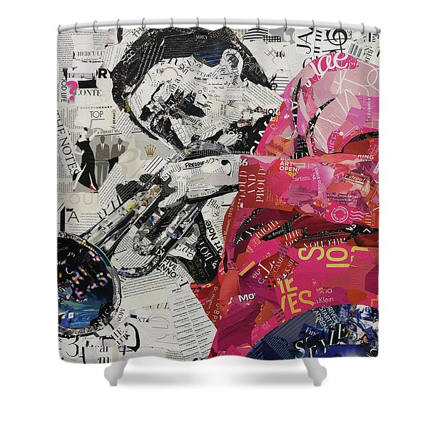 Jazz Notes Shower Curtain