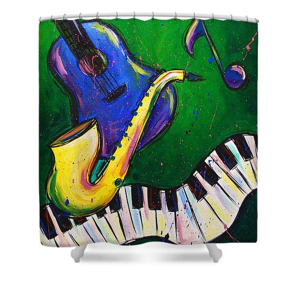 Jazz Time Shower Curtain