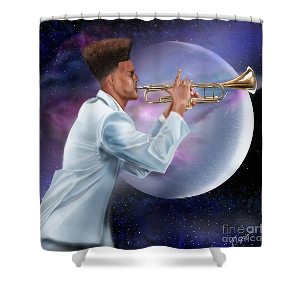 Jazz Universe Shower Curtain