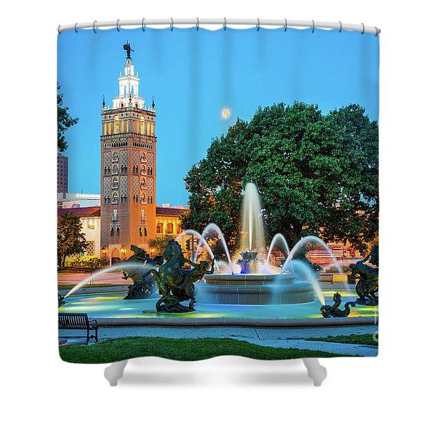 J.c. Nichols Memorial Fountain Shower Curtain
