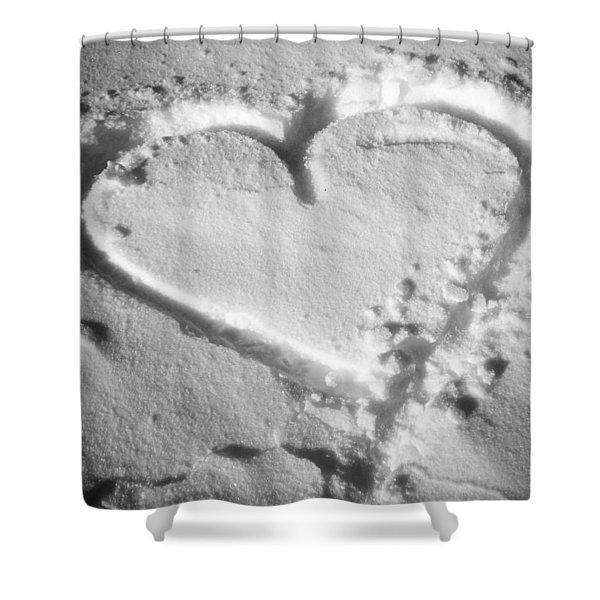 Winter Heart Shower Curtain