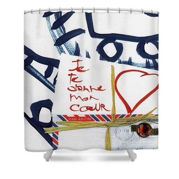 Je Te Donne Mon Coeur Shower Curtain