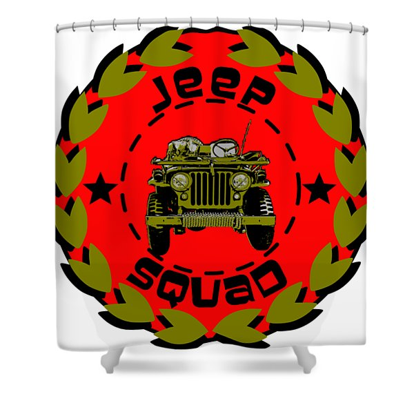 Jeep Squad Shower Curtain