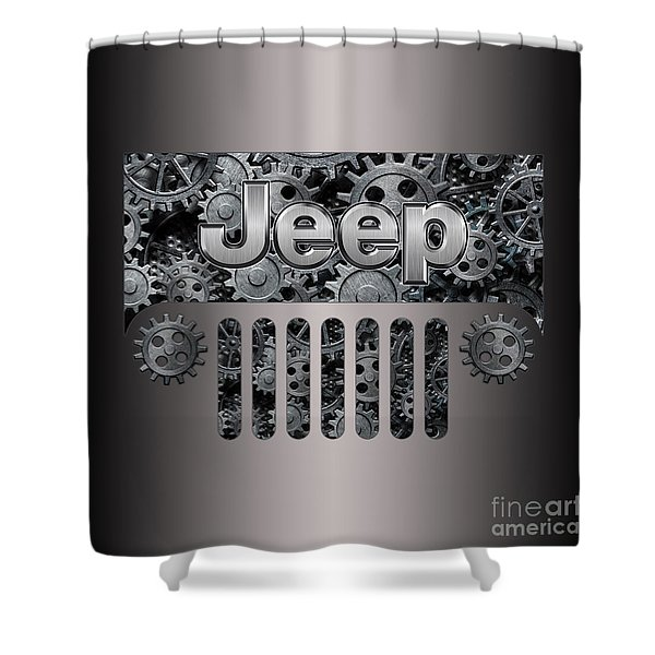 Jeep Steampunk Style Shower Curtain