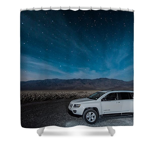 Jeep Under The Stars Shower Curtain