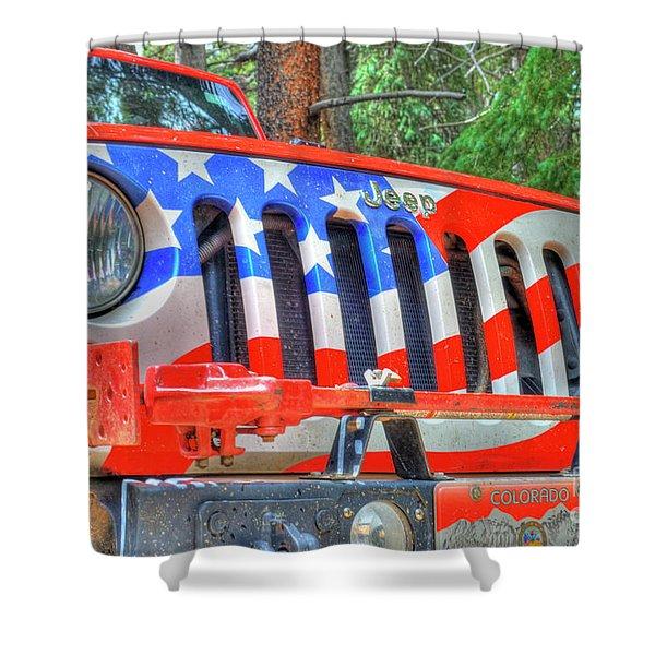 Jeep Usa Shower Curtain