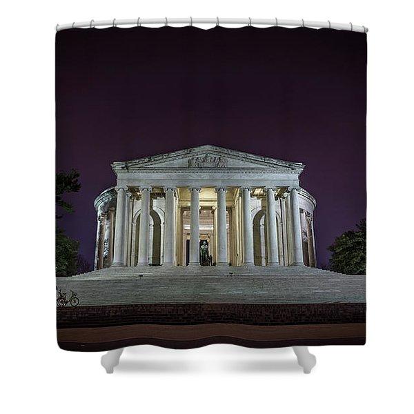 Jefferson At Night Shower Curtain