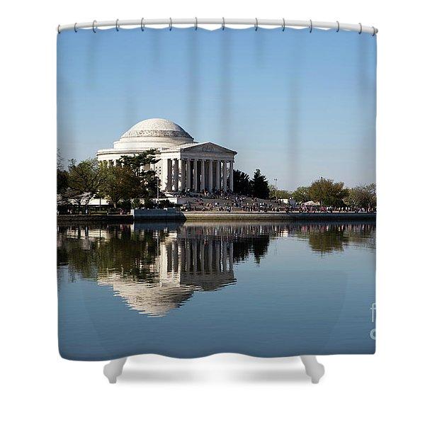 Jefferson Memorial Cherry Blossom Festival Shower Curtain