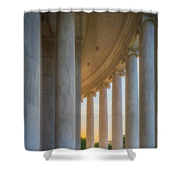 Jefferson Memorial Dawn Shower Curtain