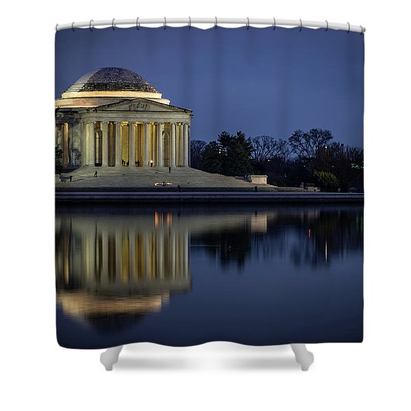 Jefferson Reflecting Shower Curtain