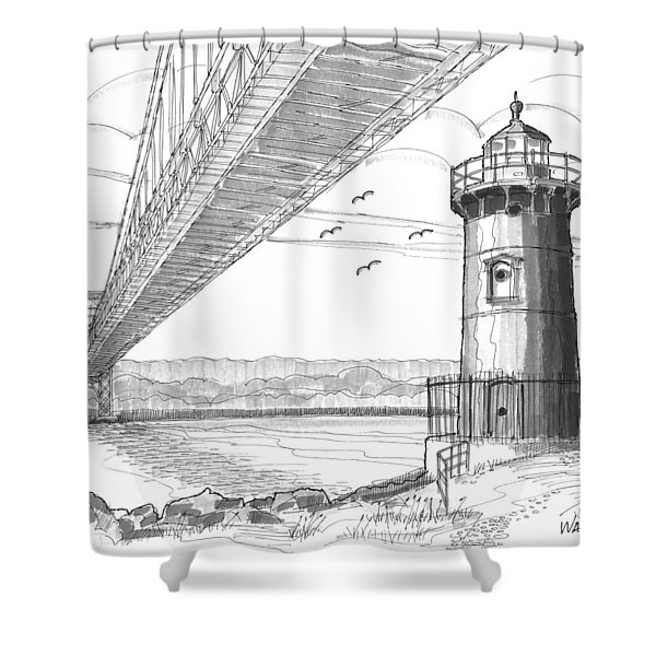 Jeffrey's Hook Lighthouse Shower Curtain