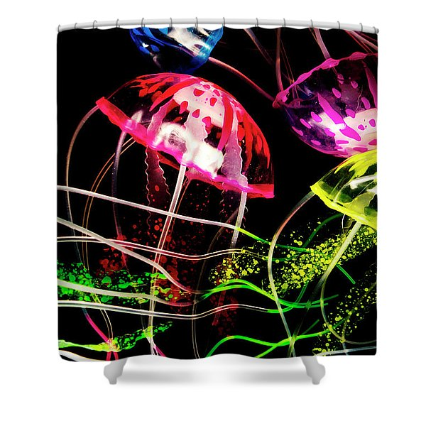 Jelly Fish Trails Shower Curtain