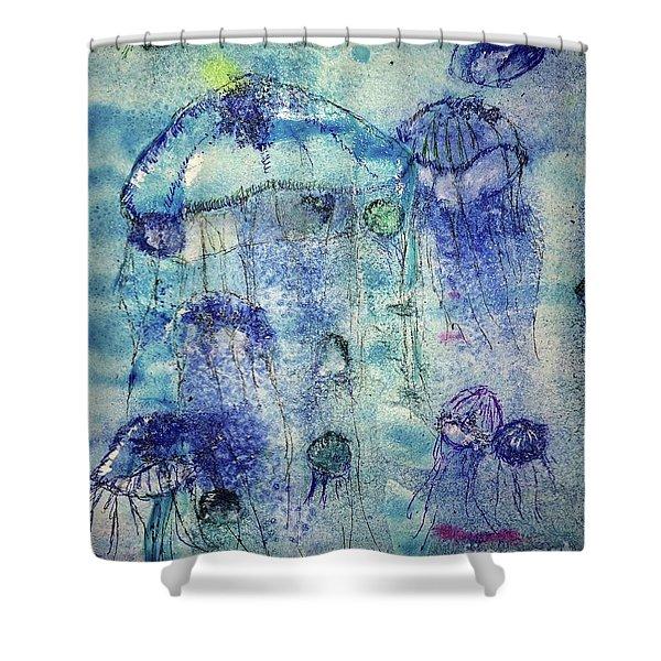 Jellyfish I Shower Curtain
