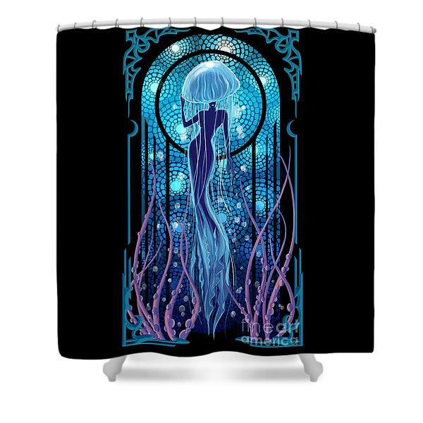 Jellyfish Mermaid Shower Curtain
