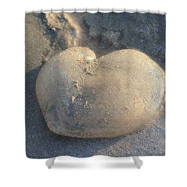 Jellyfish With A Big Heart Shower Curtain