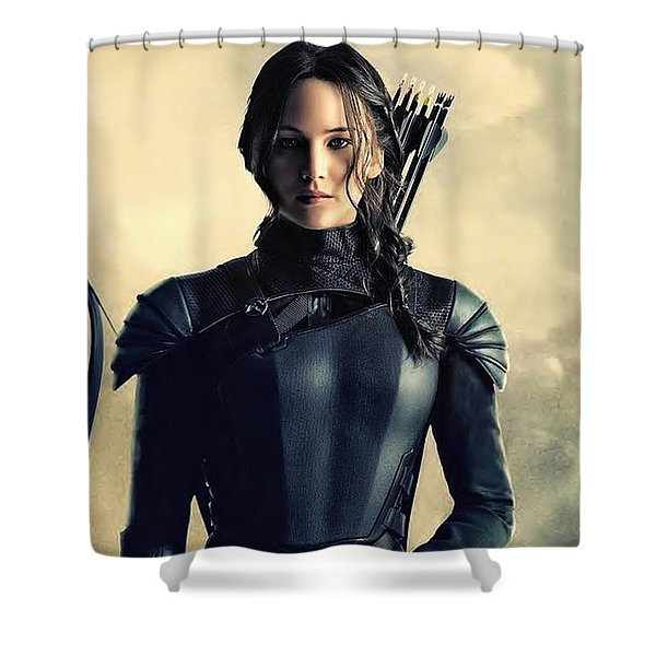 Jennifer Lawrence The Hunger Games  2012 Publicity Photo Shower Curtain