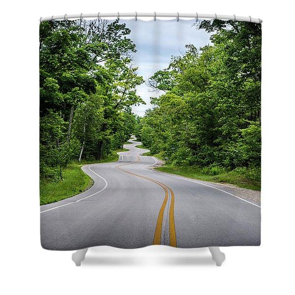Jens Jensen's Winding Road Shower Curtain