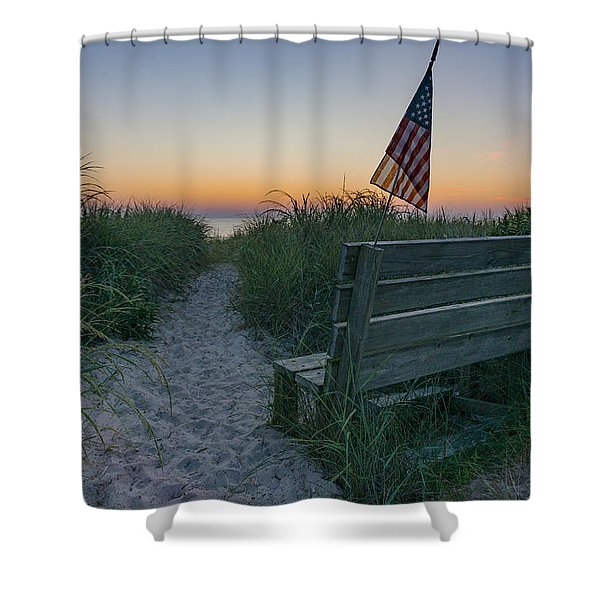 Jerry's Bench Shower Curtain