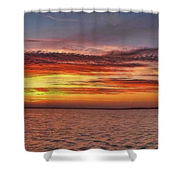 Jersey Shore Panorama Ship Bottom Shower Curtain