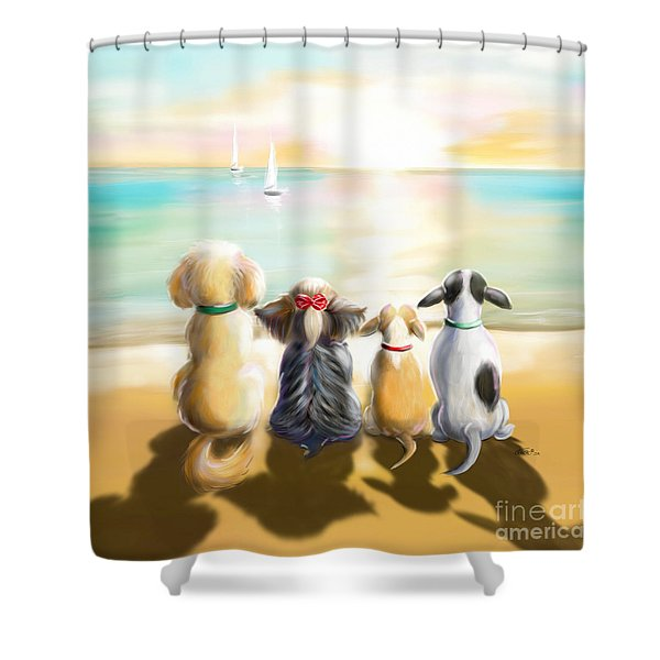Jersey Shore Sunrise  Shower Curtain