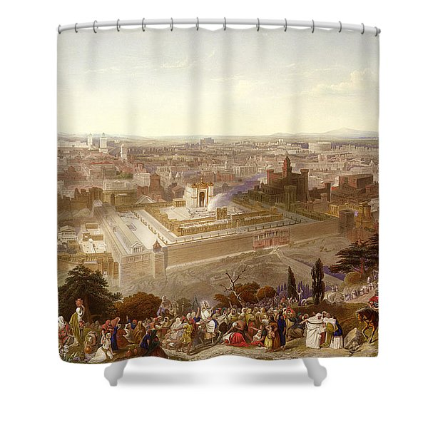Jerusalem In Her Grandeur Shower Curtain