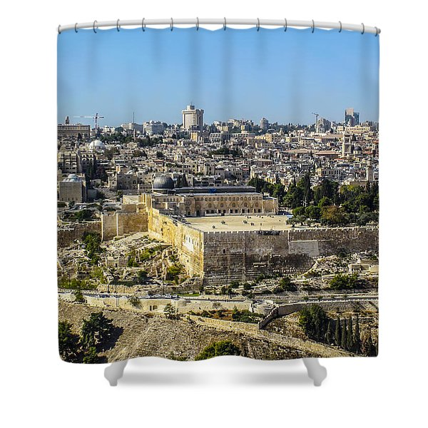 Jerusalem Of Gold Shower Curtain
