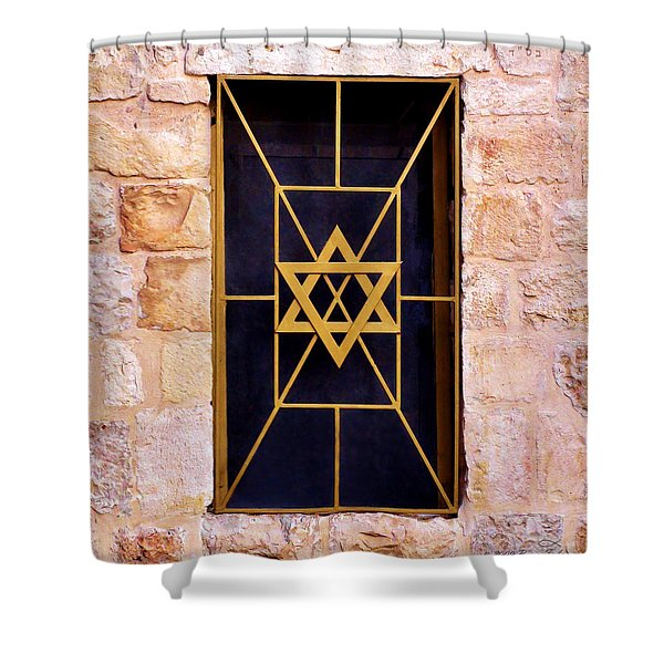 Jerusalem Window On Mt. Zion Israel Shower Curtain