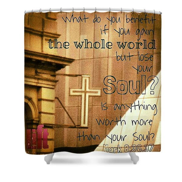 Jesus And His Disciples Left Galilee Shower Curtain