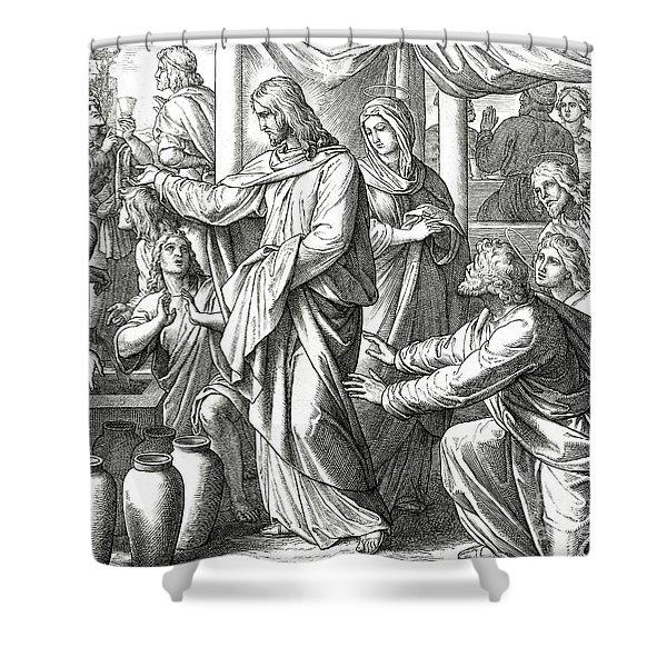 Jesus Changes Water Into Wine, Gospel Of John Shower Curtain