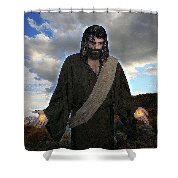 Jesus Christ- And He Withdrew Himself Into The Wilderness And Prayed Shower Curtain