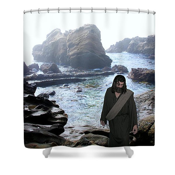 Jesus Christ- Be Not Dismayed For I Am Your God Shower Curtain
