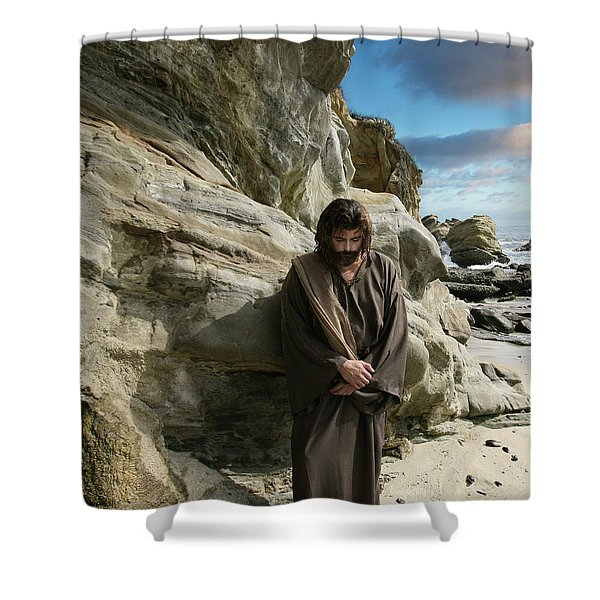 Jesus Christ- I Have Heard Your Prayer And Seen Your Tears I Will Heal You Shower Curtain
